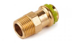 """SudoPress Rotguss Pressfitting Übergangsnippel 14 mm x 3/4"""" AG"""