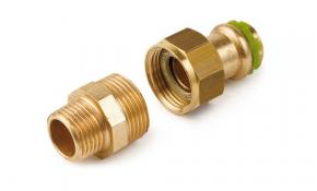 "SudoPress Rotguss Pressfitting Verschraubung AG 12 mm x 1/2"""