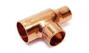 Kupfer Lötfitting T-Stück reduziert 15 x 22 x 15 mm