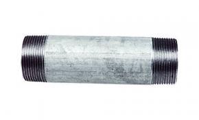 "Temperguss Fitting verzinkt Rohrdoppelnippel 1/2"" - 160 mm"