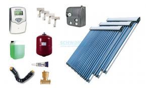 Solaranlage Warmwasser Heizung 3 x EtaSunPro HLK30 Hochleistungs Röhrenkollektor