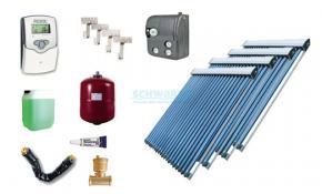 Solaranlage Warmwasser Heizung 4 x EtaSunPro HLK30 Hochleistungs Röhrenkollektor
