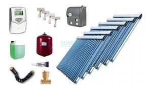 Solaranlage mit 1 x EtaSunPro HLK20  + HLK30 Hochleistungs Vakuum Röhrenkollektoren