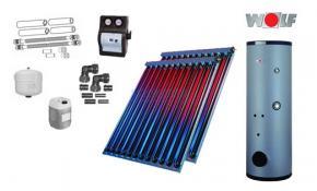 Wolf Solarpaket mit 2 x CRK Hochleistungs-Vakuum-Röhrenkollektoren inkl. SEM-2-300
