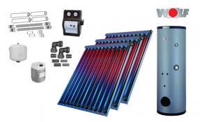 Wolf Solarpaket mit 3 x CRK Hochleistungs-Vakuum-Röhrenkollektoren inkl. SME-2-400