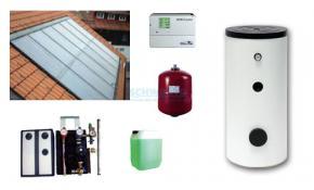 Solaranlage Indach 10,40 m² (IKASOL 2.08) für die Warmwasserbereitung mit 500 l Speicher