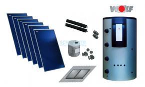 Wolf Solarpaket mit 6x TopSon F3-1 Flachkollektoren inkl. BSP-W-SL 1000