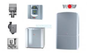 Wolf Wärmepumpe Luft/Wasser-Set BWL-1-8 Innenaufstellung mit Puffermodul CPM-1