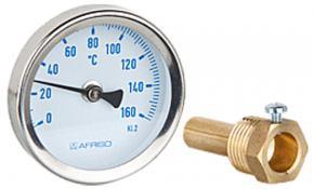 "Solar Thermometer 63 mm G 1/2"" B, 0-160°C ""blau"""
