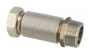 """Edelstahlflexwellrohr ausziehbar 3/4"""" - 260 bis 520 mm"""