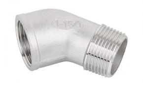 """Edelstahl Winkel 45° V4A Gewindefitting IG/AG - 1/2"""""""