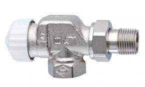 """HEIMEIER V-exact II Thermostatventil 1/2"""" Axial mit Voreinstellung vernickelt"""