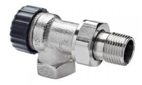 """Heimeier Thermostatventil 3/8"""" Eck / Axial Standard für umgekehrte Flussrichtung"""