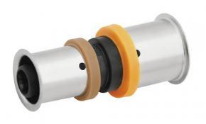 KAN-therm Pressfitting Muffe/Kupplung reduziert PPSU 50 x 40 mm
