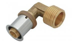 "KAN-therm Übergangswinkel 90° Pressfitting Messing 25 mm x 3/4"" AG"