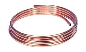 Kupferrohr 8 x 1,0 mm - blank, weich (Ring mit 25 m) - DVGW-geprüft