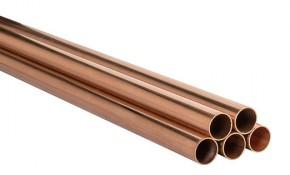 Kupferrohr 12 x 1,0 mm - halbhart, blank - DVGW-geprüft - Stange 1 m