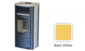 """wasserführender Kaminofen Marinella BSP 5 - 9 KW inkl. Kachelset """"basic-yellow"""""""