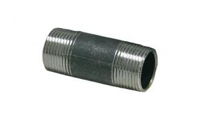 """Stahl Rohrdoppelnippel - schwarz 1"""" x 1000 mm"""