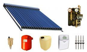Solarpaket Warmwasser mit 30 SWD Röhren 58/1800 (4,95m²) Edelstahl
