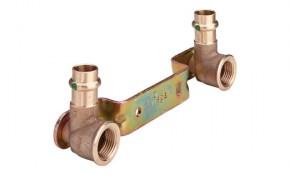 """Viega Sanpress Montageeinheit gekröpft 15 mm x 1/2"""" x 150 mm - Modell 2222"""