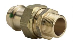 """Viega Sanpress Verschraubung 18 mm x 1/2"""" AG flachdichtend - Modell 2265"""