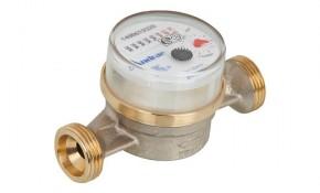 """Wasserzähler Kaltwasser 2,5 m³ mit Anschlussgewinde 3/4"""" AG - BL: 80 mm"""