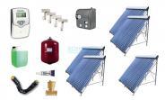 Solar-Komplettpaket mit 11,95 m² U-Pipe Röhren TZ/47-1500-20
