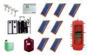 Solarkollektoren BASIC 2.51 (17,57 m²) mit 1000 Ltr. Hygieneschichtkombispeicher HSK