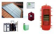 Solaranlage 14,56 m² Indach, Warmwasser u. Heizung, Hygiene- Kombispeicher 800 Liter